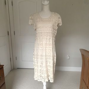 North Style Ivory Lace Dress